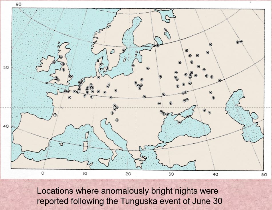 Map of reported 'light nights'