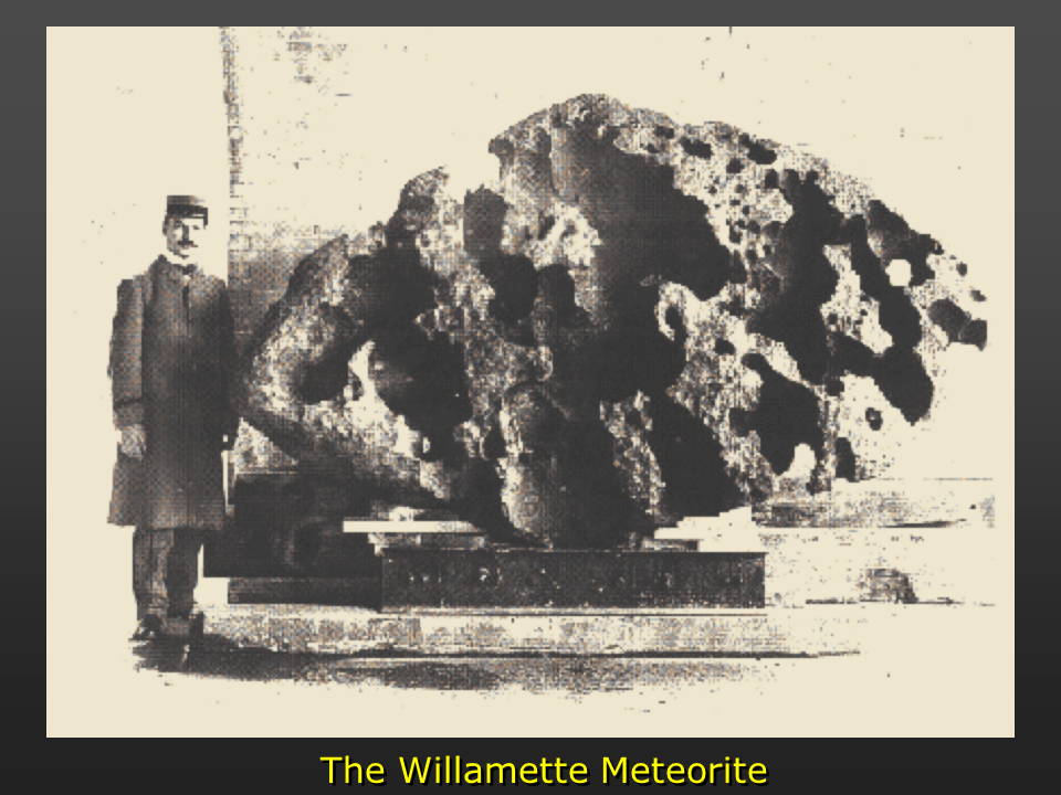 Meteorite found amongst glacial erratics in the Willamette Valley, Oregon