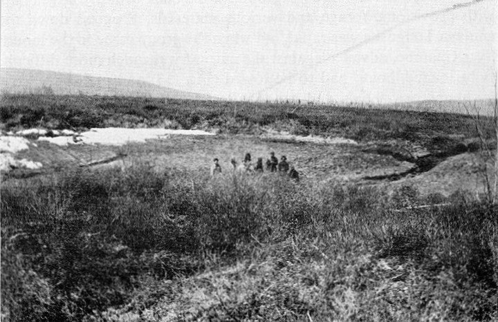 The 'Suslov Hole' in 1929 after being drained
